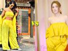 hina khan Shehnaaz gill in yellow outfit