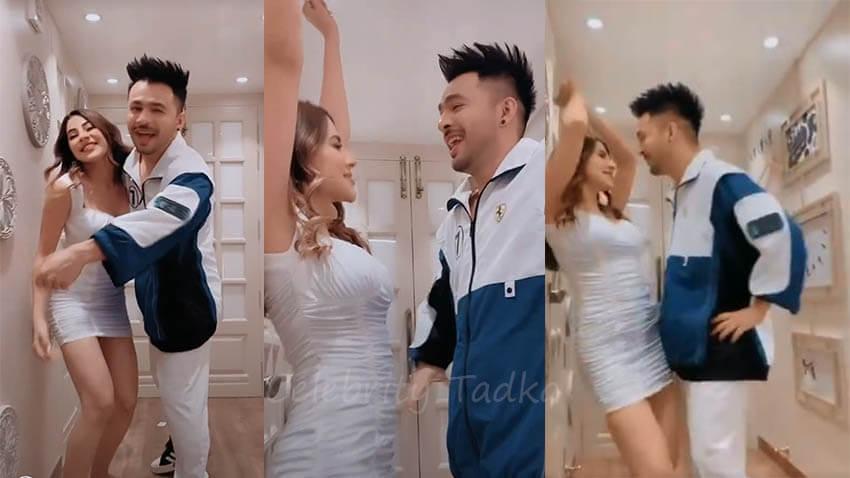Nikki Tamboli Tony Kakkar dancing on Tera Suit song