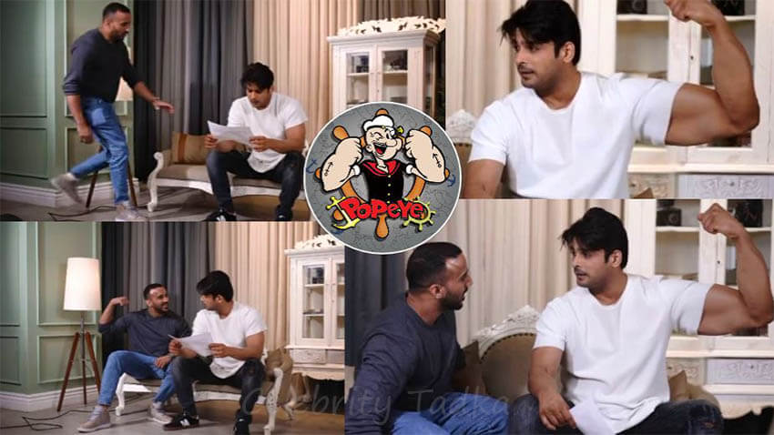 Rohit Reddy Sidharth Shukla turns Popeye