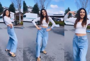 Shehnaaz Gill dances on the streets of Canada