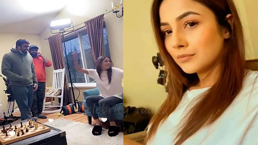 Shehnaaz Gill off camera fun on film sets