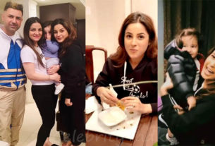 Shehnaaz gill with Gippy Grewal and family