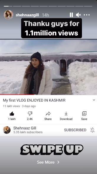 Shehnaaz Gill Vlog Youtube