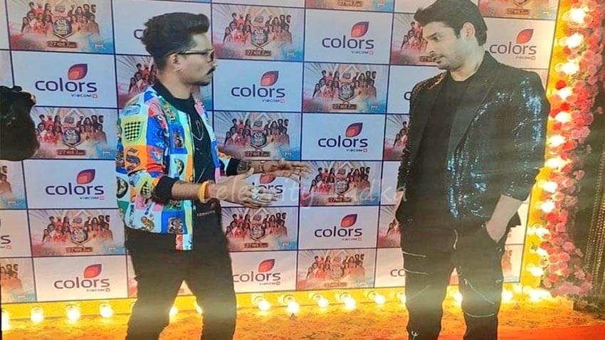 Sidharth Shukla holi even for colors tv
