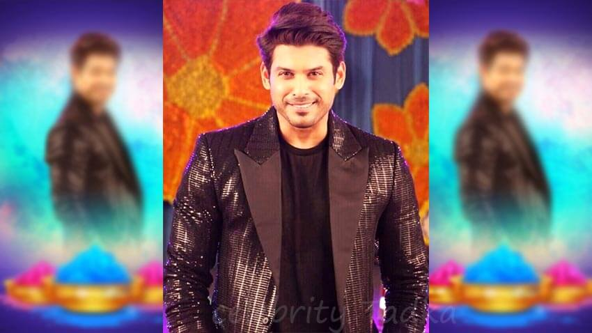 Sidharth Shukla wishes fans happy holi
