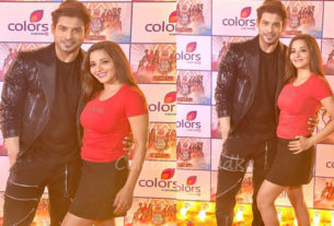 Sidharth Shukla with monalisa at colors holi event