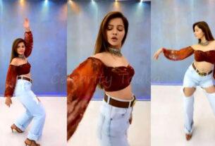 Rubina Dilaik dances on galat song