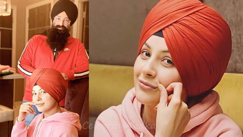 Shehnaaz Gill Turban look