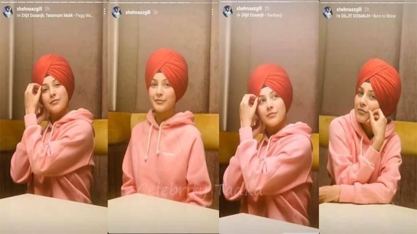 Shehnaaz Gill in turban punjabi look