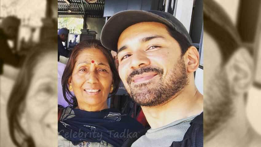 Abhinav Shukla with his mother