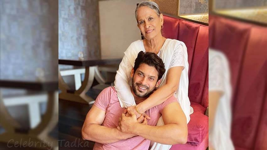 Sidharth Shukla with his mother