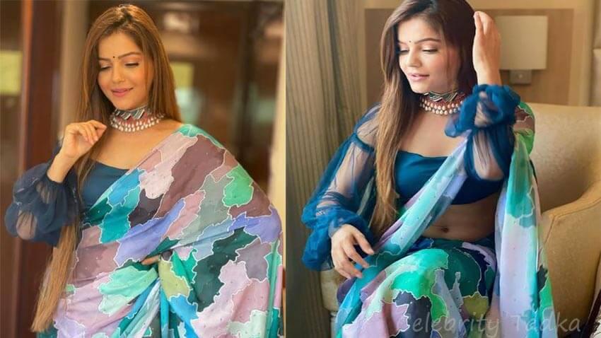 Rubina Dilaik in Saree