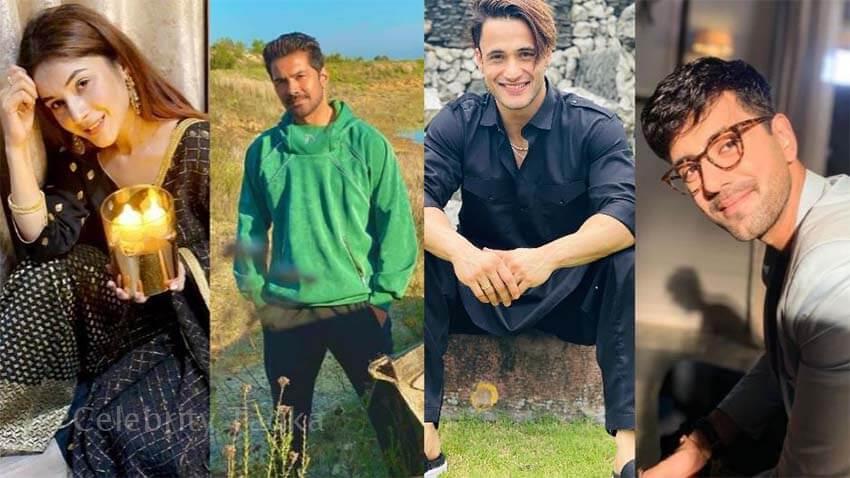 Shehnaaz gill Abhinav Shukla wishes fans Eid Mubarak
