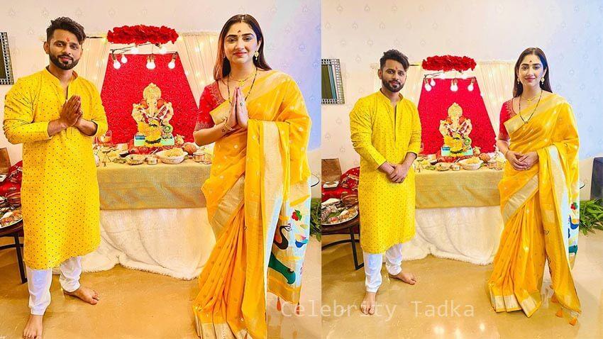 Rahul Vaidya Disha Parmar celebrates Ganesh Chaturthi